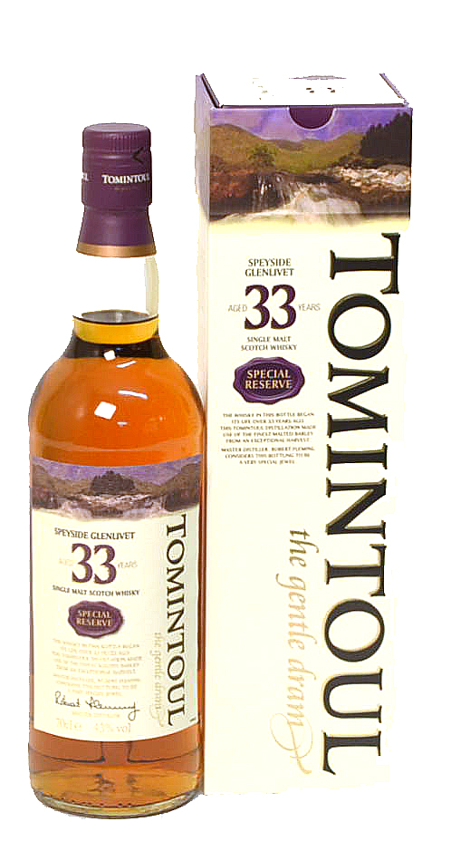 Tomintoul Special Reserve 33Y 43°